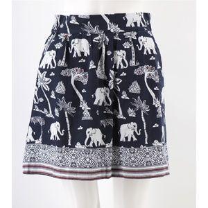 Ann Taylor LOFT Outlet Elephant Safari Linen Skirt